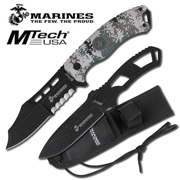 Digital Camo USMC Marines Grunt Fixed Blade Knife Thrower Set - knifeblade-store