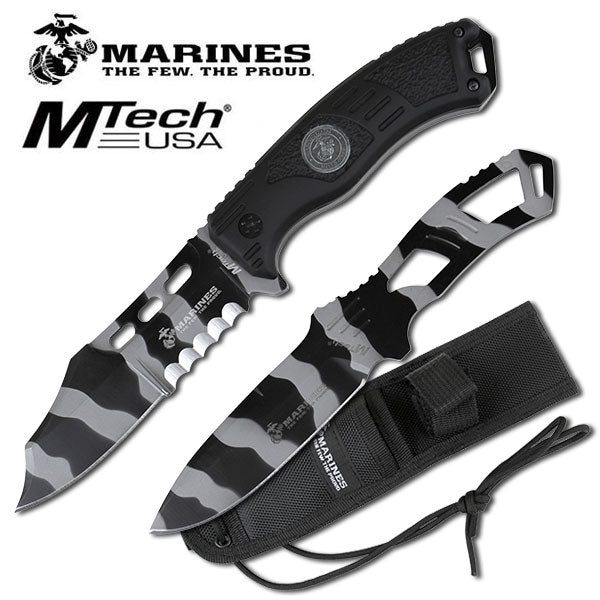 Urban Camo USMC Marines Grunt Fixed Blade Knife Thrower Set - knifeblade-store