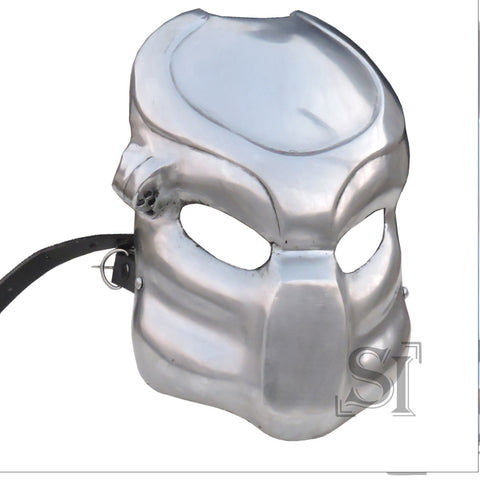 Fantasy Predator Warrior Battle Mask 18G Steel Helmet - knifeblade-store