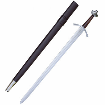 Medieval Battle Combat Sword With Scabbard - knifeblade-store