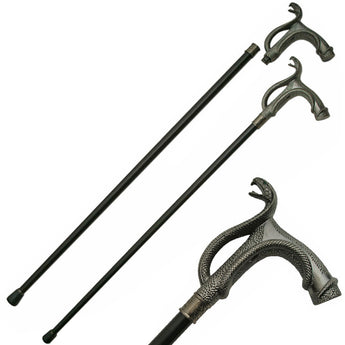 Brazen Serpent Cobra Gentleman's Walking Stick Cane - knifeblade-store