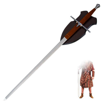 42 inch Sir William Wallace Long Two Handed Medieval Claymore Sword - knifeblade-store