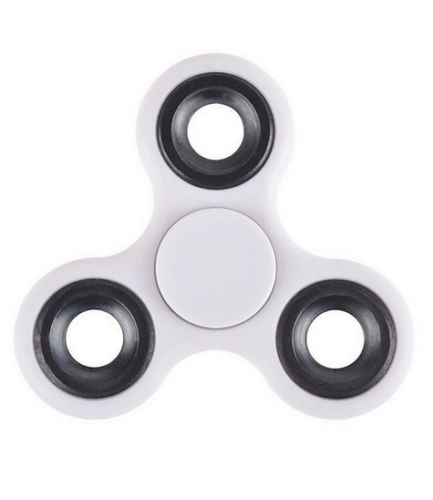 Stress Relief Hand Spinner and Spinning Tri Fidget High Speed White - knifeblade-store