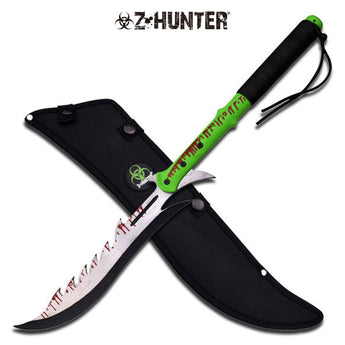 Saw Back Zombie Hunter Machete Sword - knifeblade-store