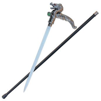 Winged Treasure Dragon Cane Sword - knifeblade-store
