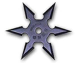 6 Point Throwing Star - Black - knifeblade-store