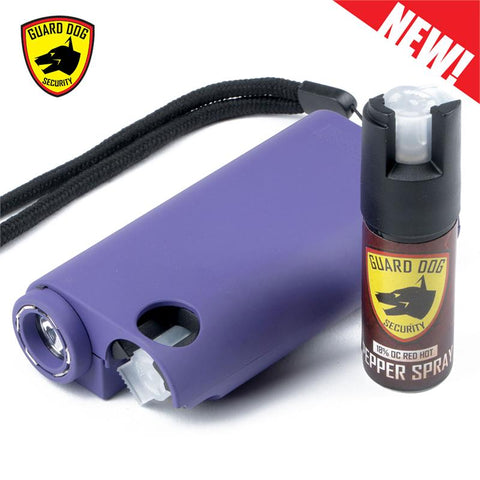 Purple Olympian World's Only All-In-One Stun Gun - Pepper Spray - Flashlight - knifeblade-store
