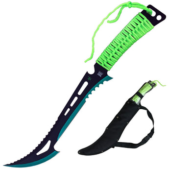 Renegade Zombie Killer Machete With Sheath Green - knifeblade-store