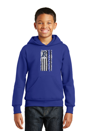 Kid's Hoodie - Flag - Football - Cheer Flag