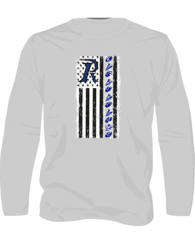 Ladies light weight hoodie - Flag for Cheer & Football