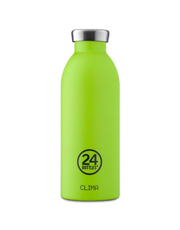 24 Bottles Clima Insulated Bottle 500ml Lime Green