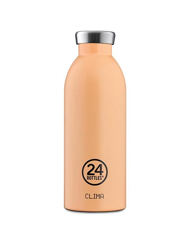 24 Bottles Clima Insulated Bottle 500ml Peach Orange