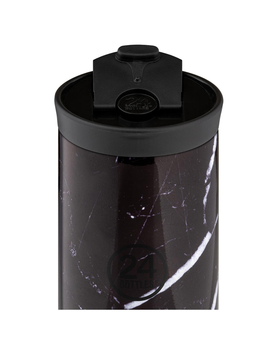 24 Bottles Travel Tumbler 350ml Black Marble