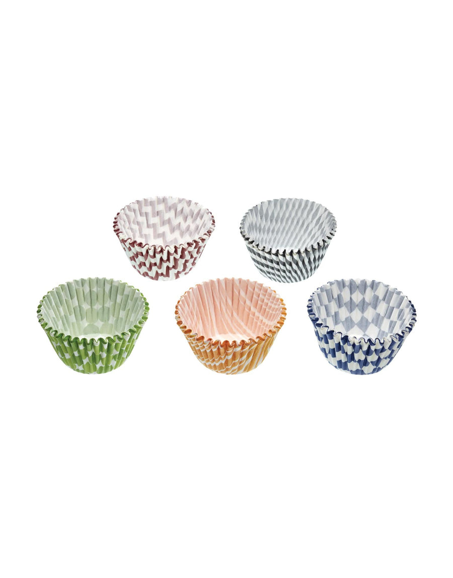 9cm Patterned Paper Muffin Cases 100