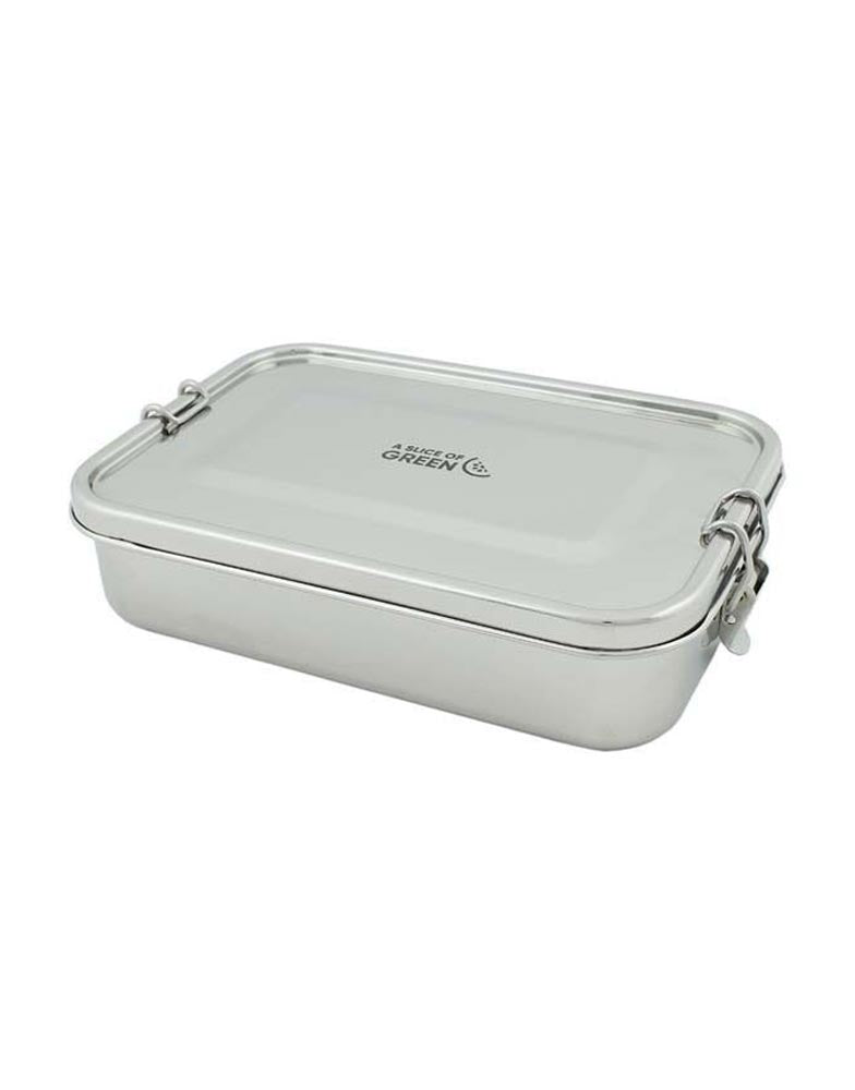 A Slice of Green Steel Leak Proof Lunch Box 1.1L