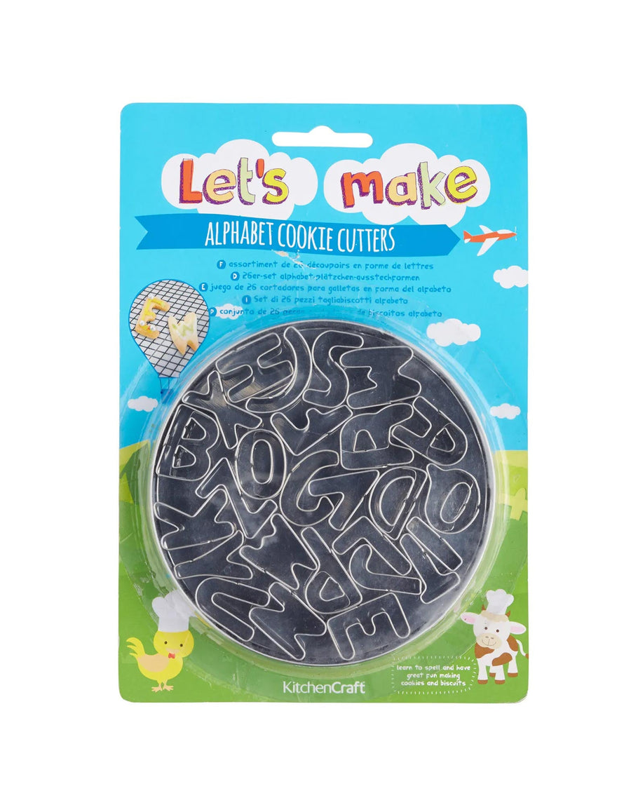 Alphabet Cookie Cutters Set of 26 In Tin