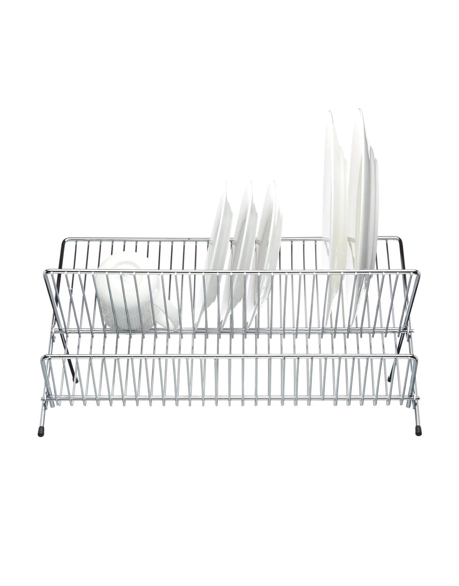 Chrome Plated Fold Away Dish Drainer