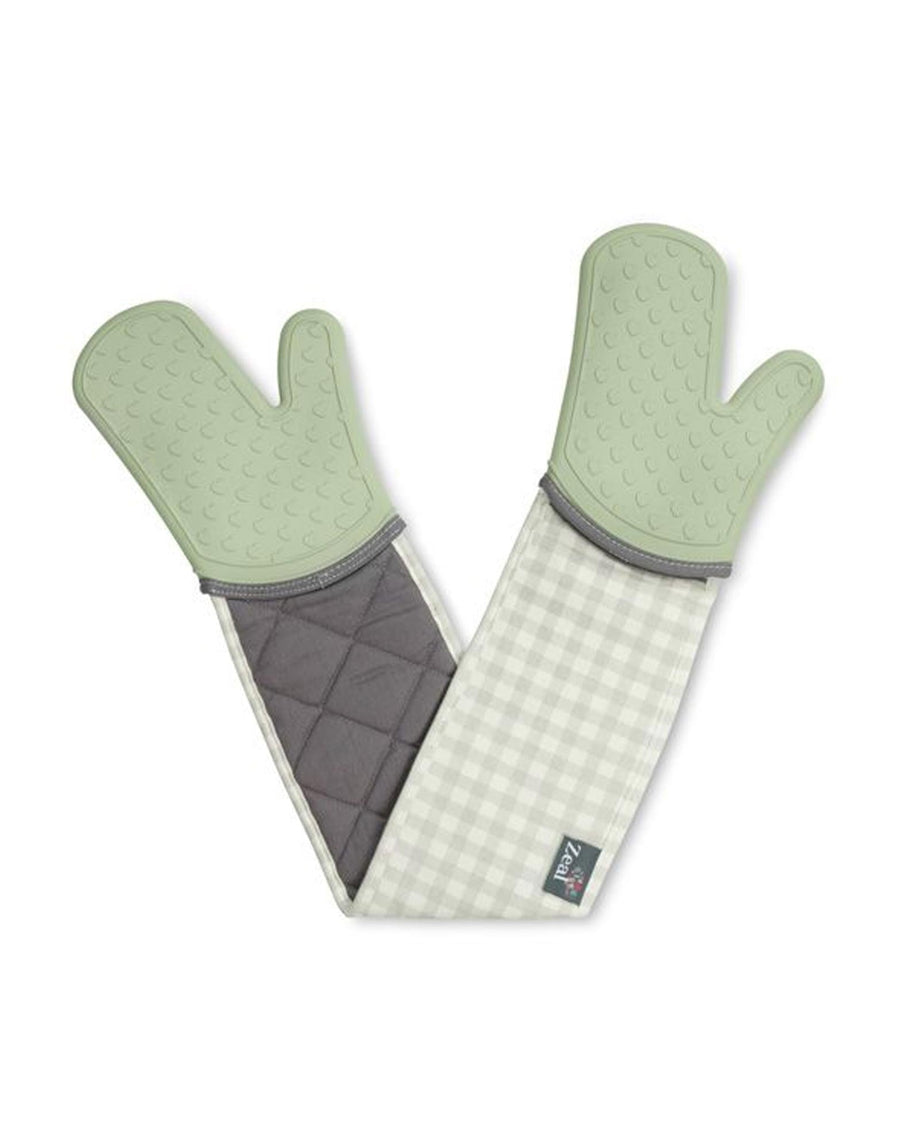 Classic Silicone & Fabric Double Oven Gloves