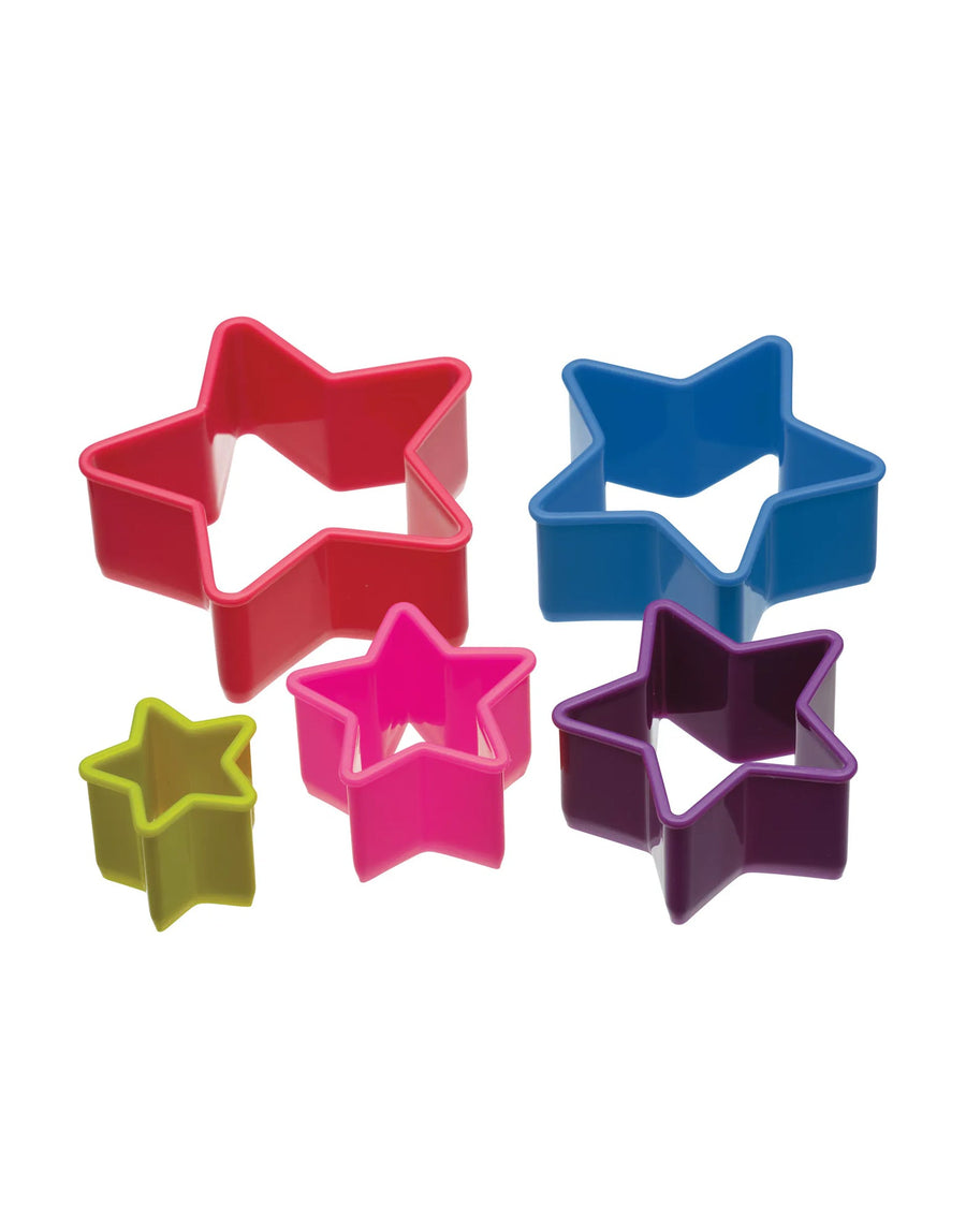Five Piece Star Cookie Cutter Set with Storage Box