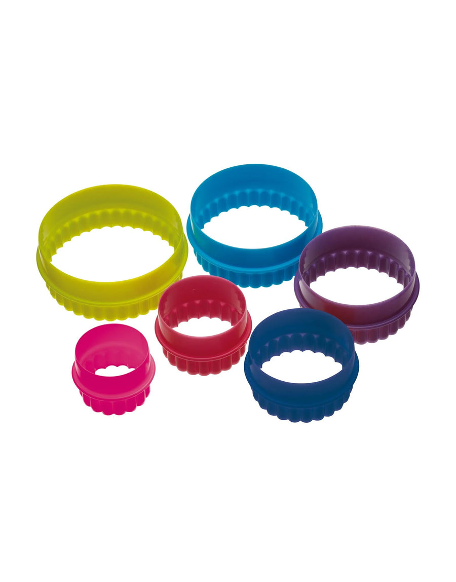 Six Piece Round Cookie Cutters Set with Storage Box