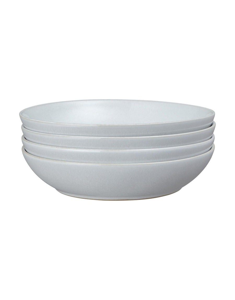 Denby Intro Stone White 4 Piece Pasta Bowl Set