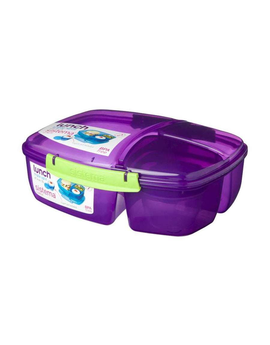 Sistema Triple Split with Yoghurt Pot 2L