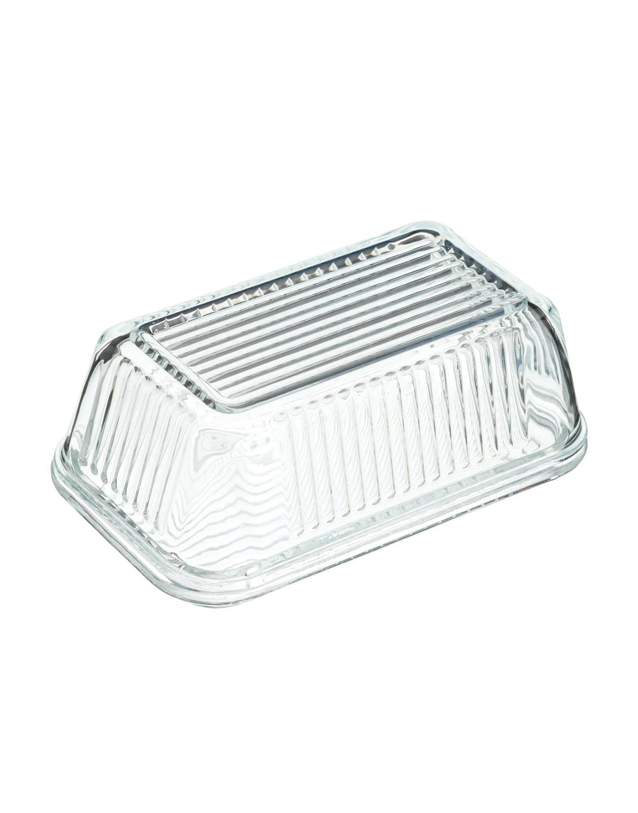 Glass Vintage Style Butter Dish