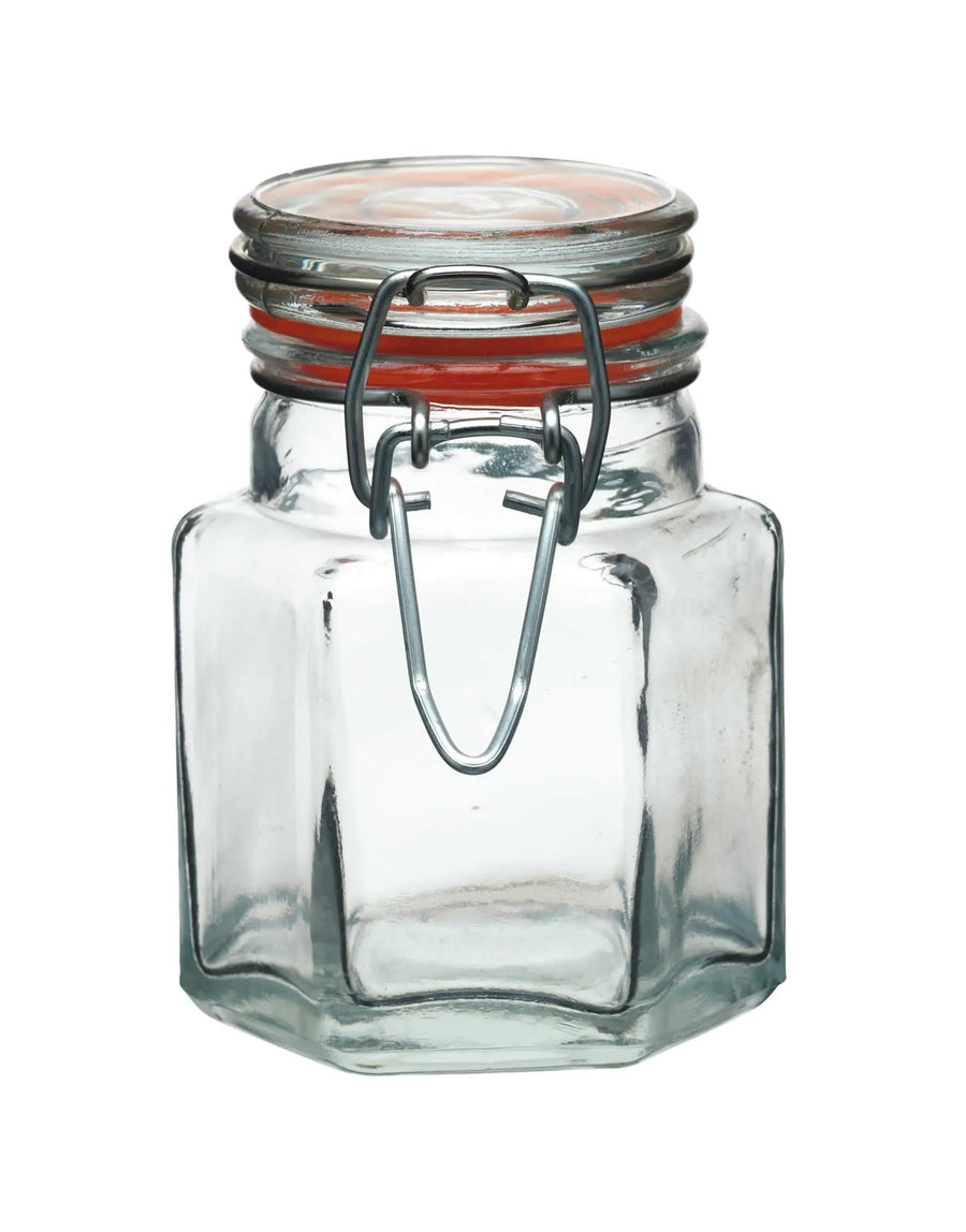 Hexagon Clip Top Jars 100ml