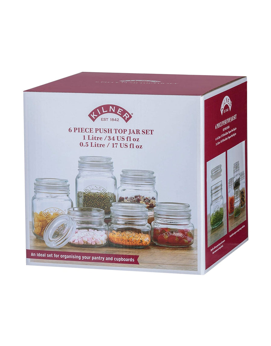 Kilner 6 piece Push Top Jar Set
