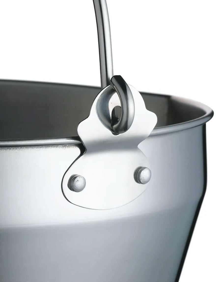 KitchenCraft Home Made Stainless Steel Maslin Pan with Handle