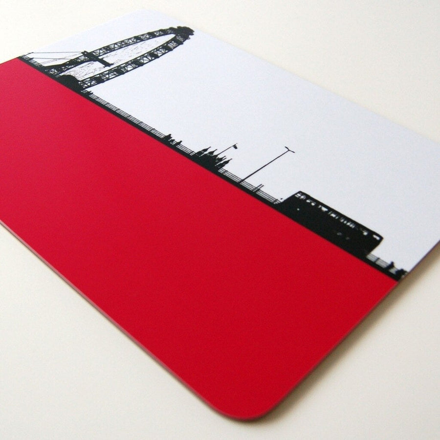 The Art Rooms Table Mat London Eye/Red