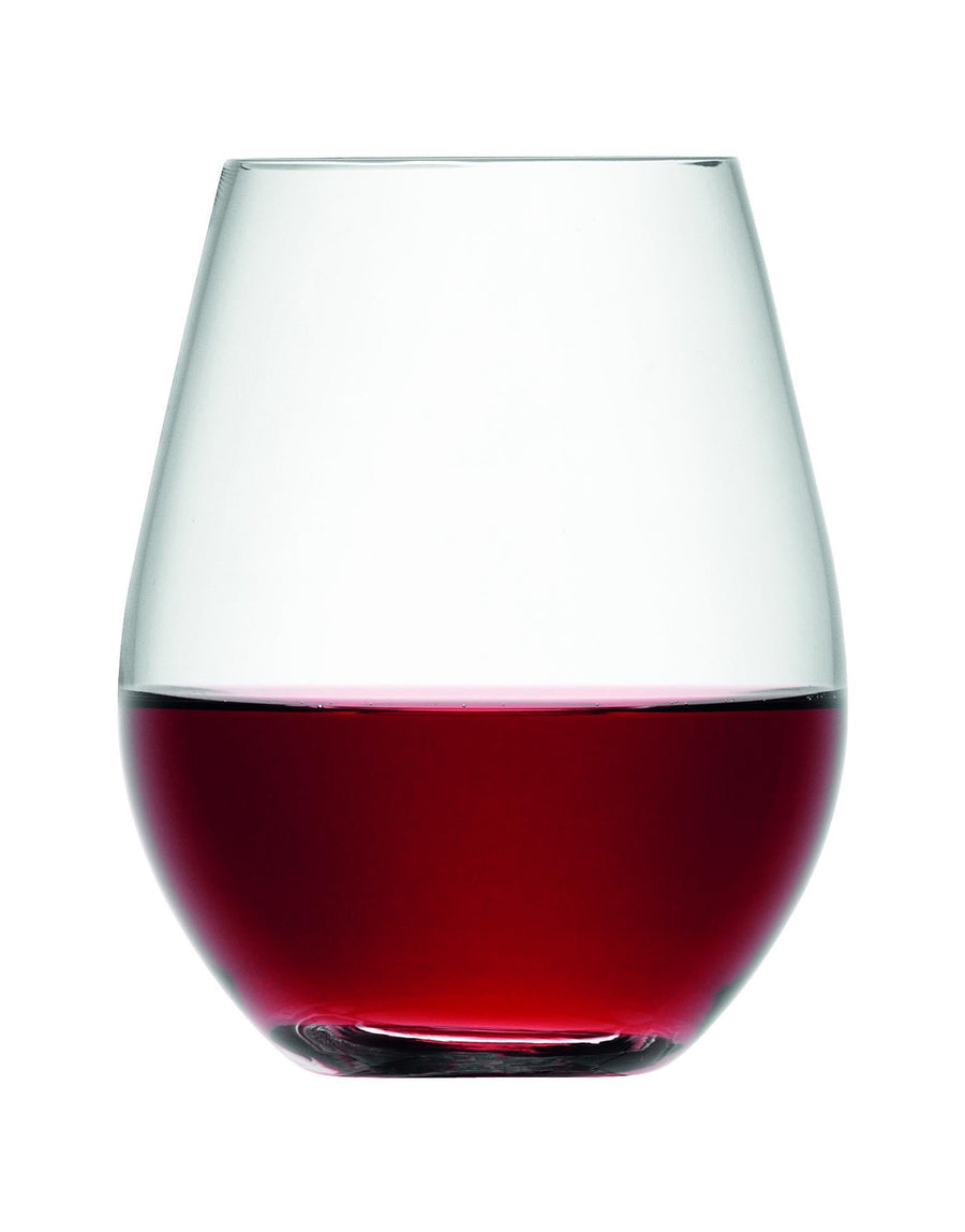 LSA Stemless Red Wine Glasses Set of 4