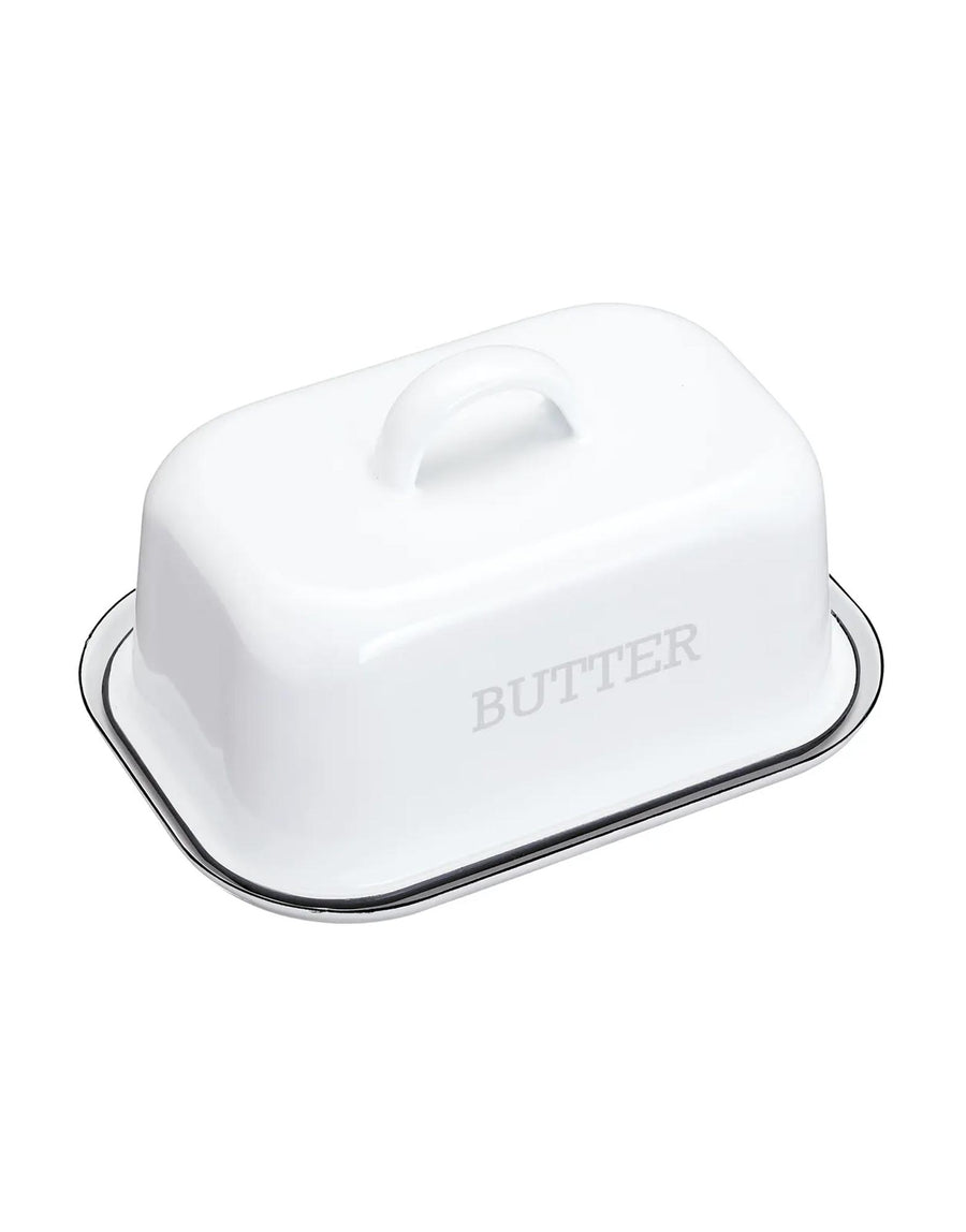 Enamel Covered Butter Dish