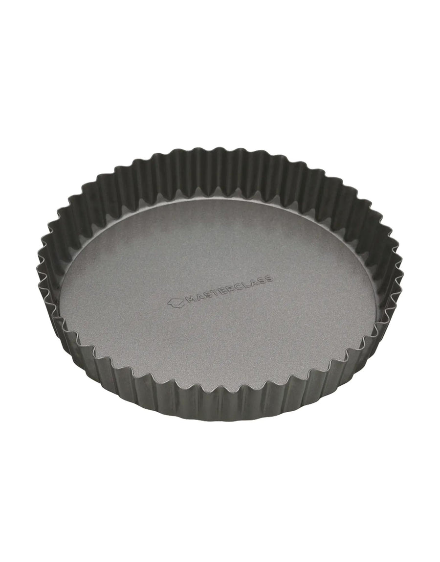 MasterClass Non-Stick Fluted Loose Base Quiche Tin Round
