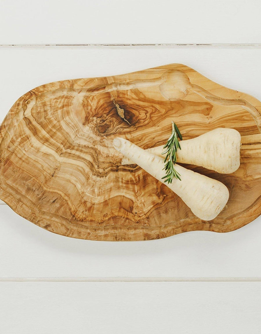 Naturally Med Olive Wood Chopping Board w Groove