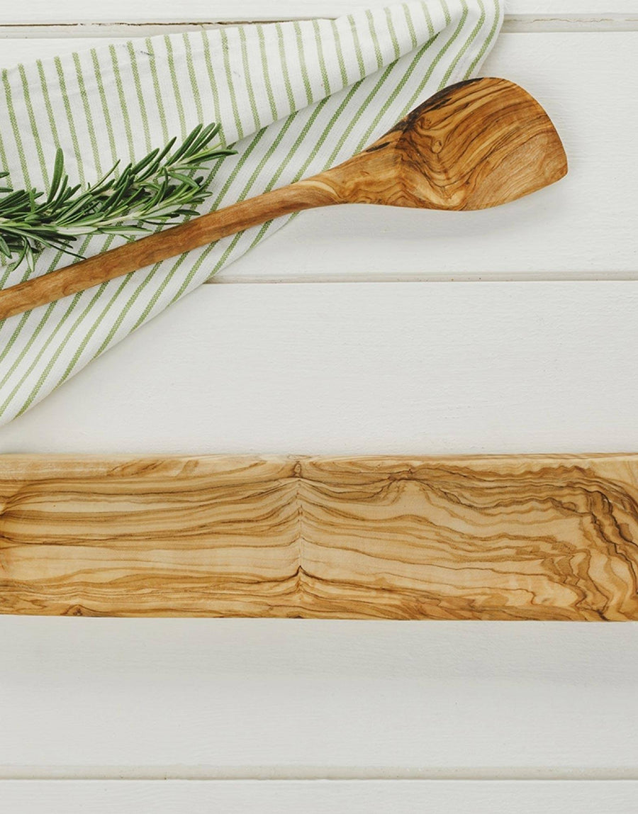Naturally Med Olive Wood Spoon Rest
