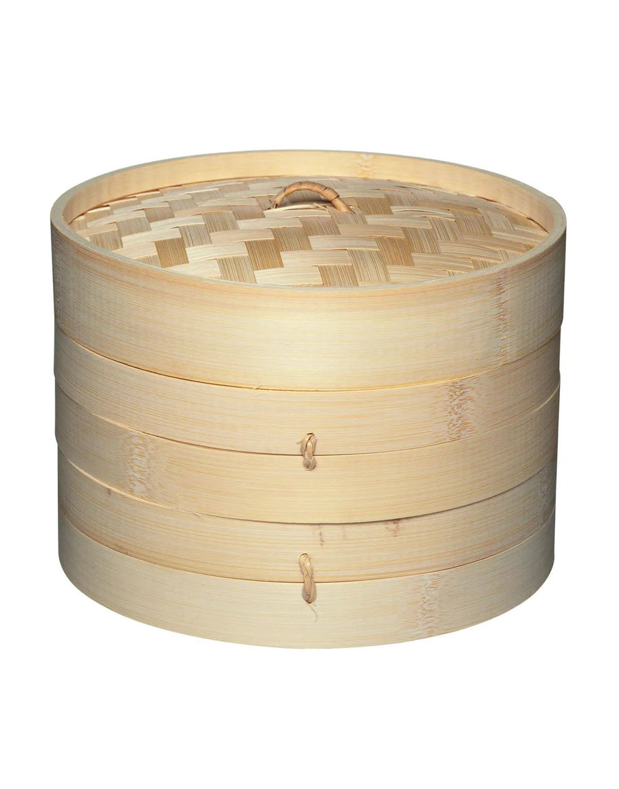 Two Tier Bamboo Steamer and Lid 20cm