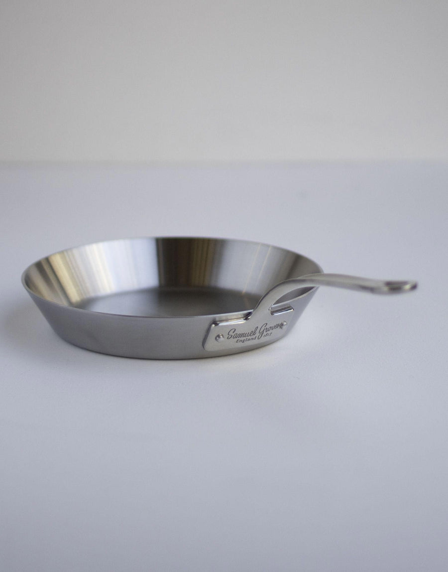 Samuel Groves Stainless Steel Brushed Triply Frypan