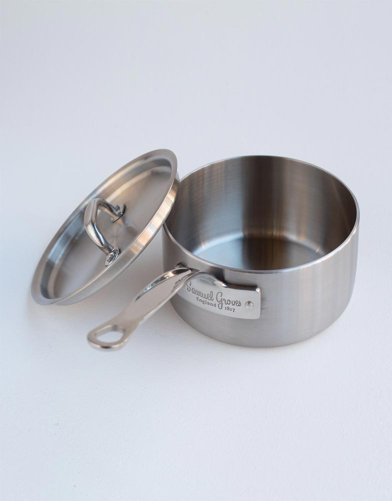 Samuel Groves Stainless Steel Brushed Triply Saucepan