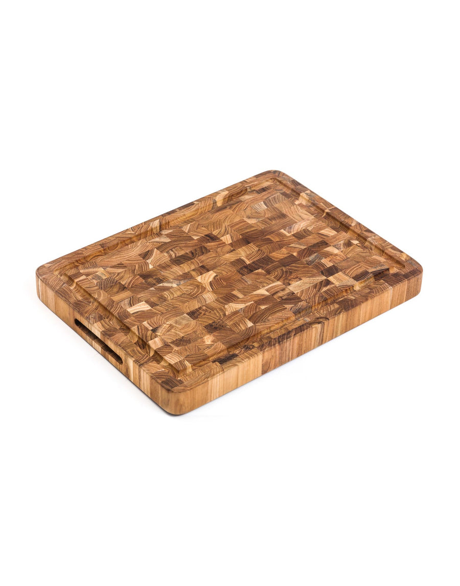 Teak Haus End Grain Butcher Block with Juice Canal
