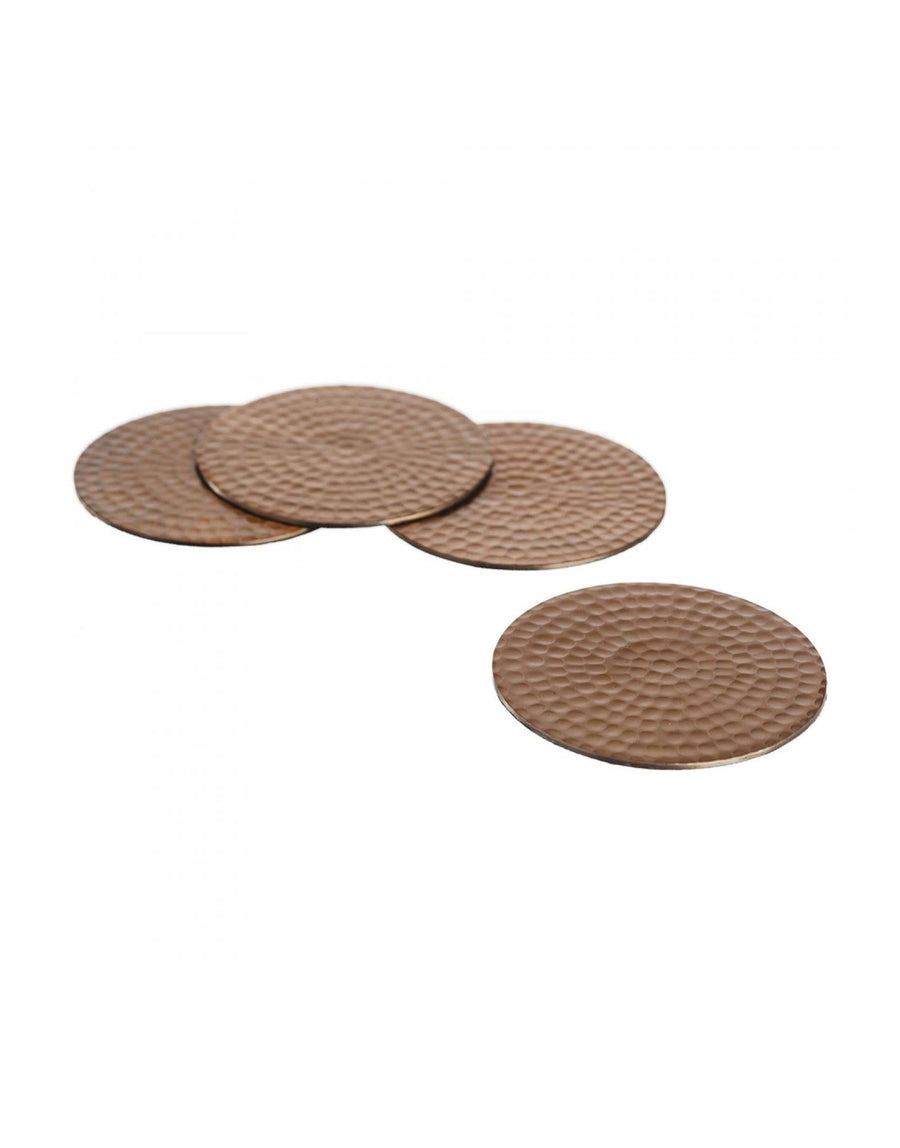 The Just Slate Company 4 Flat Hammered Coasters