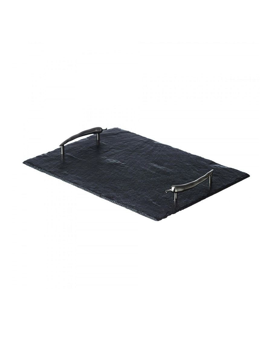 The Just Slate Company Serving Tray with Chilli handles