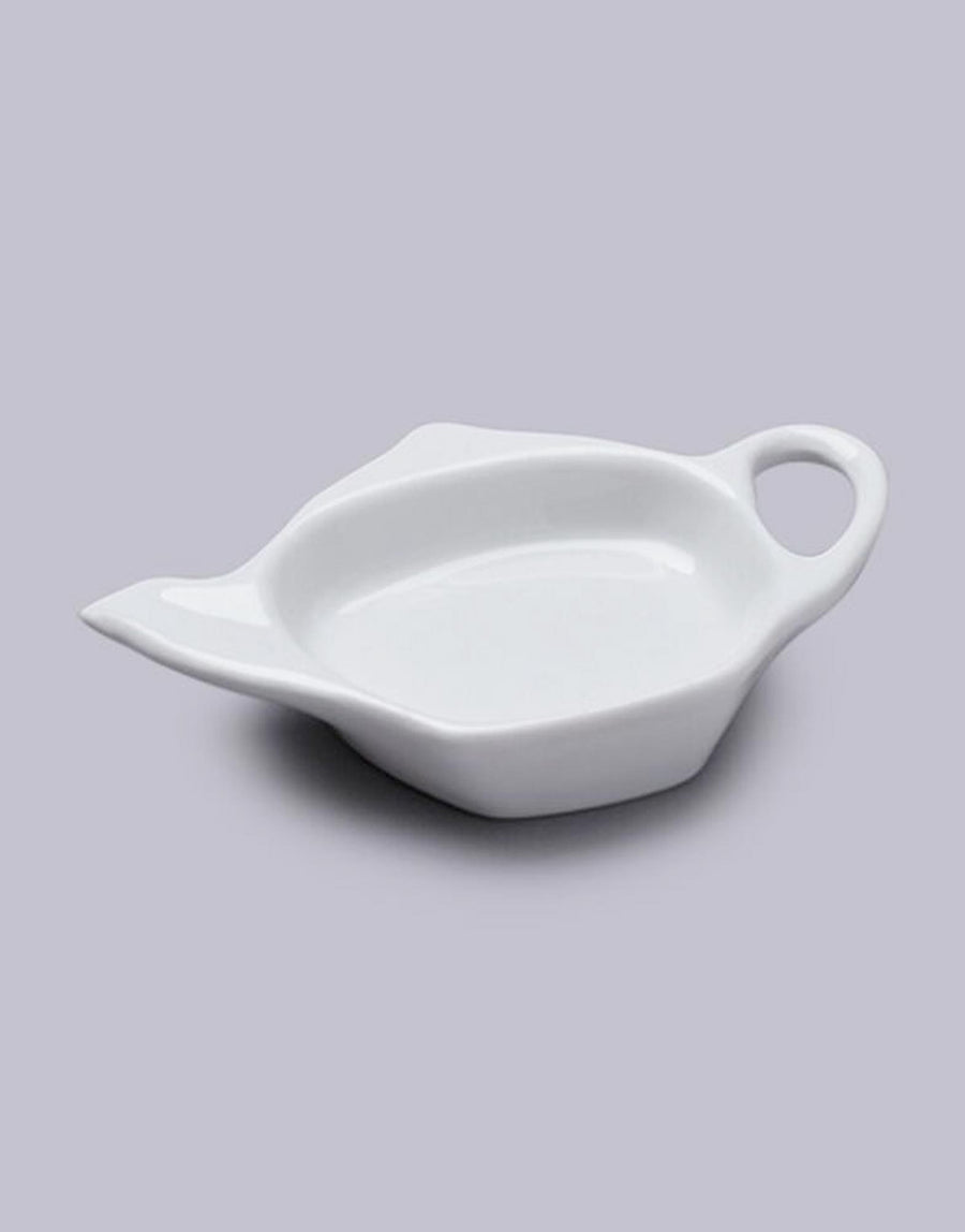 White porcelain teabag tidy