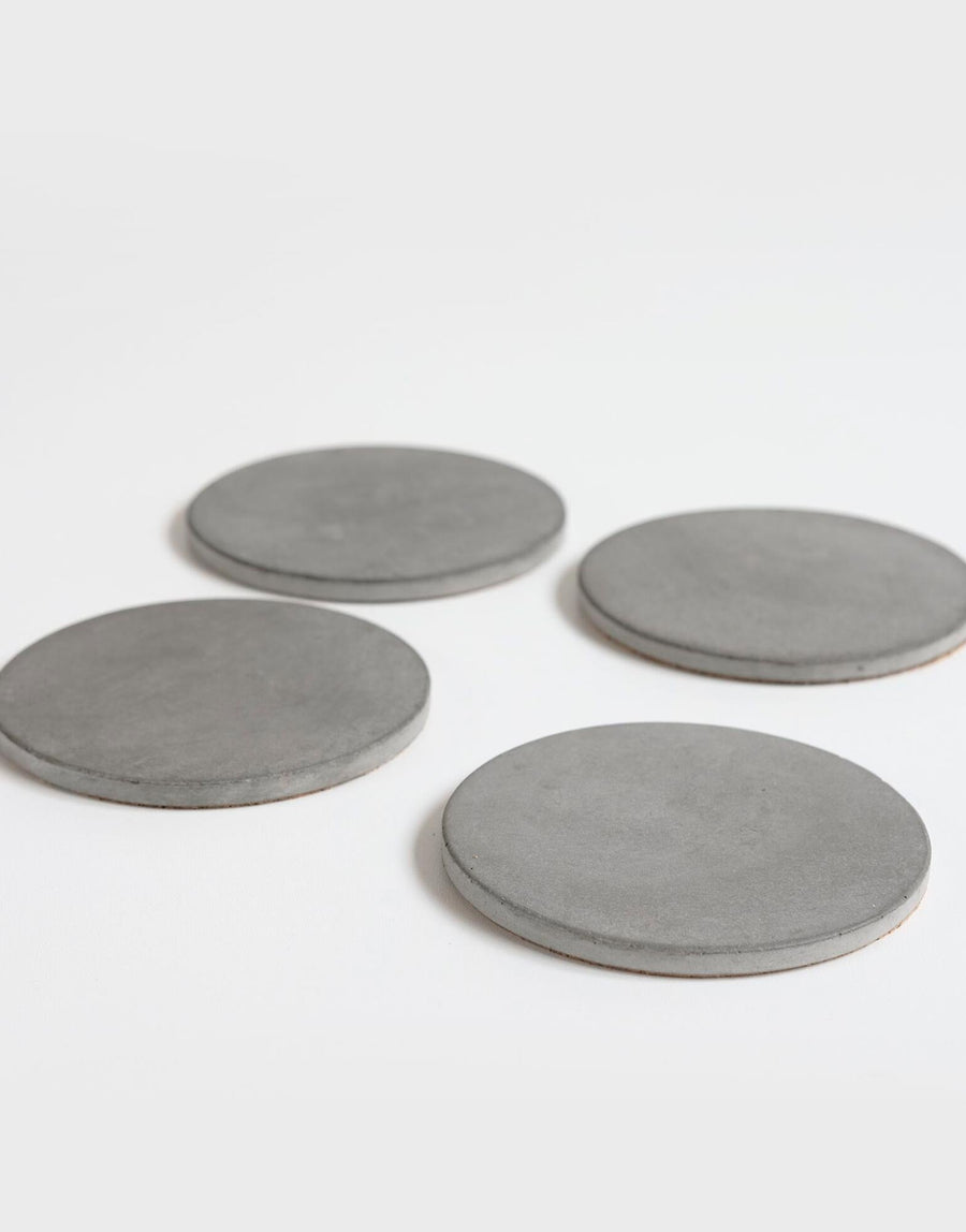 Wild and Wood Concrete Coasters Set of 4