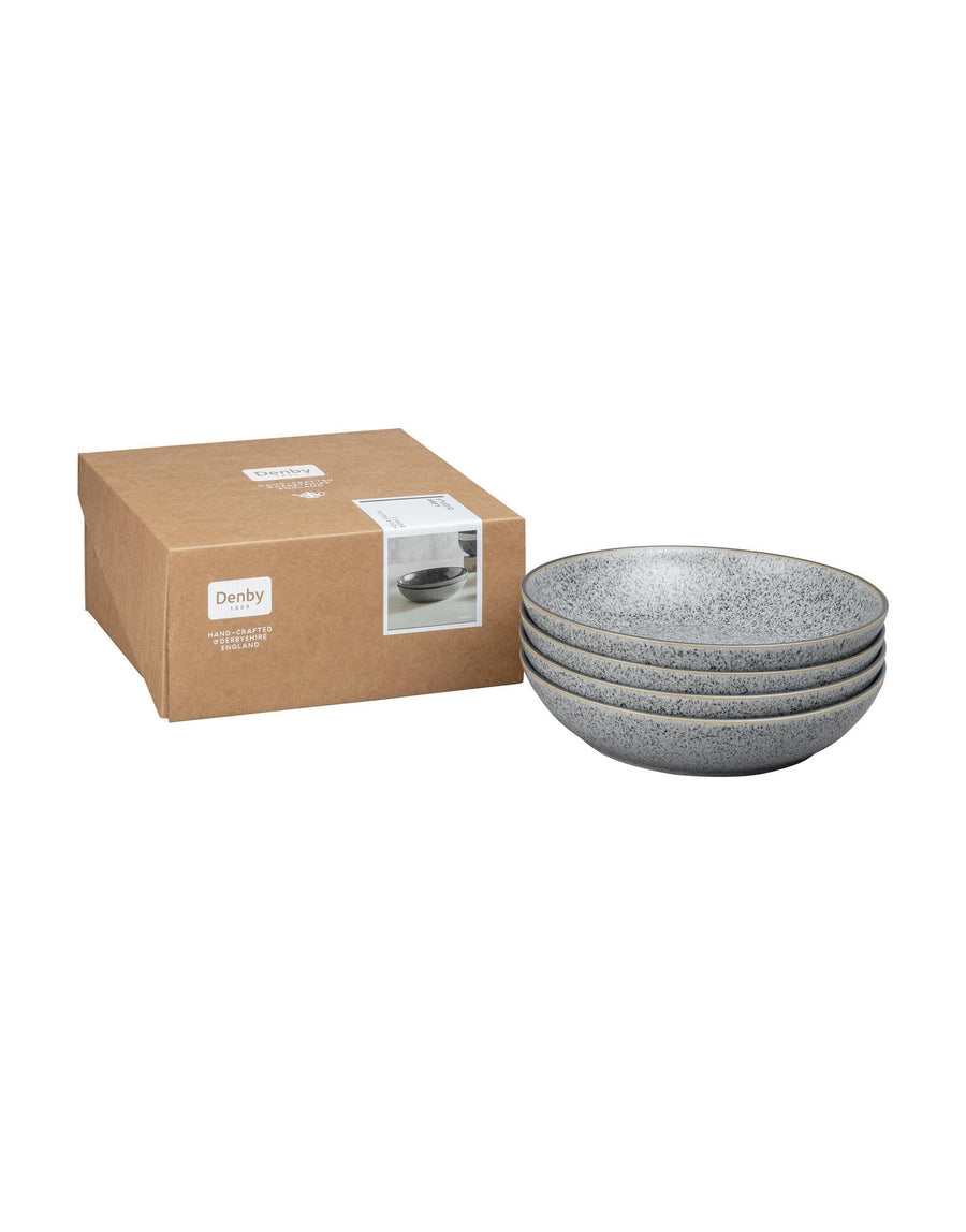 Denby Studio Grey 4 Piece Pasta Bowl Set