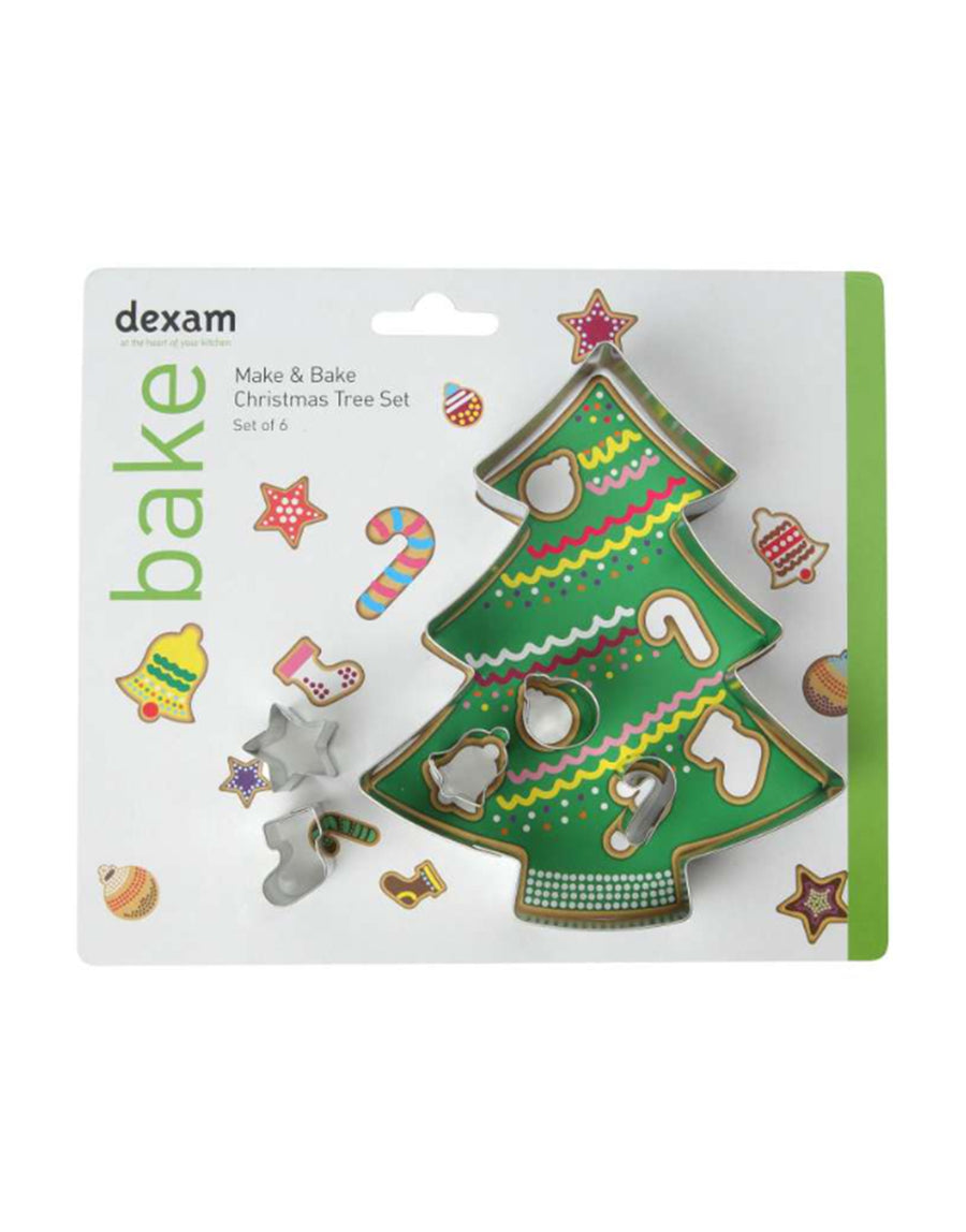 Dexam Make & Bake Christmas Tree Cookie Cutter Kit Set of 6