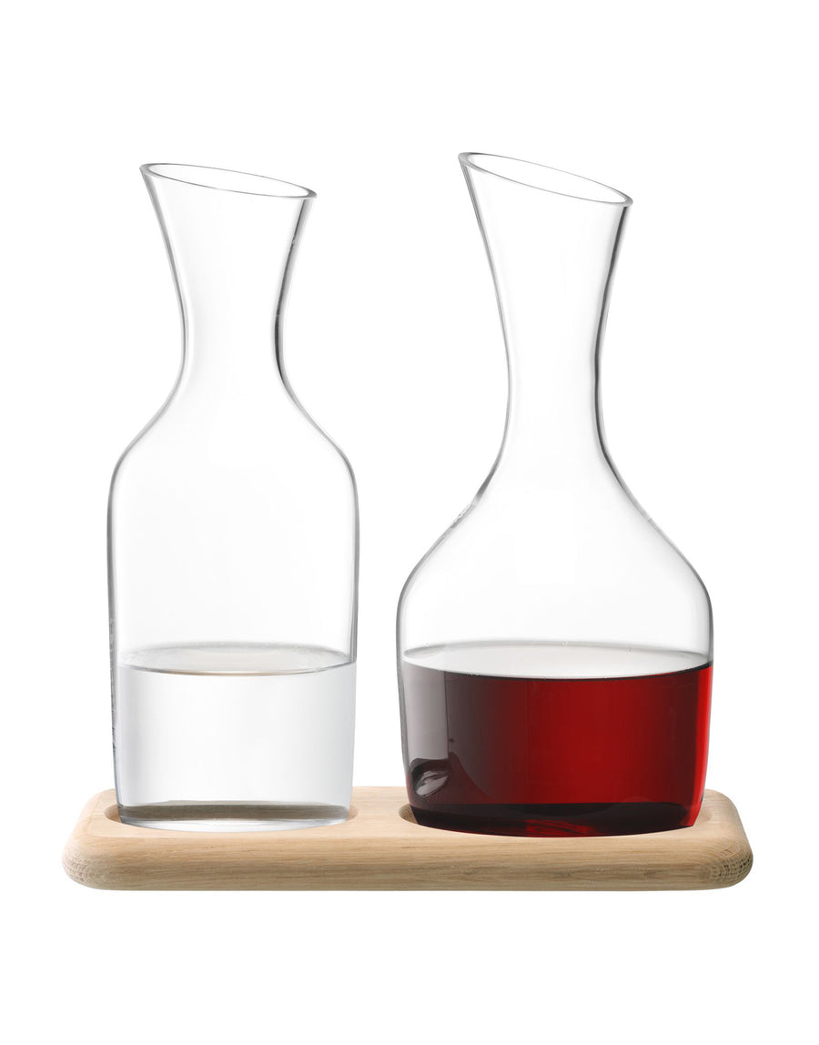 LSA Water and Wine Carafe Set and Oak Base 12.l/1.4L