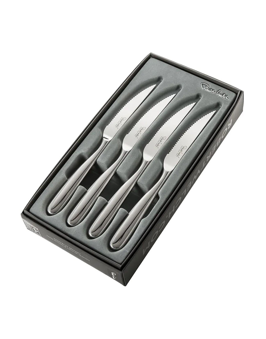Robert Welch Stanton Bright Steak Knife Set of 4