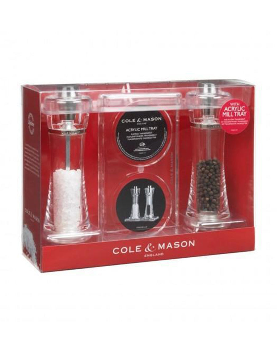 Cole & Mason Roma Mill Set with Tray