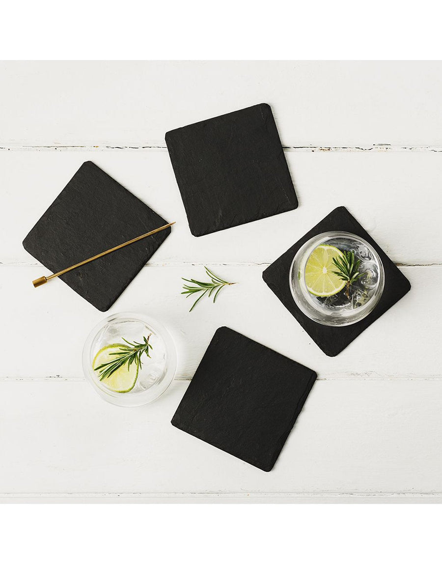 The Just Slate Company Square Coasters Set of 4